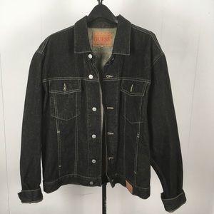 GUESS Dark Denim Button Down Jean Jacket Men's 10